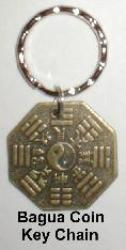 Bagua Coin Charm Key Chain, Feng Shui Key Chain, feng shui key chain to protect car