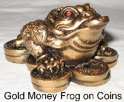 Gold Money Frog on Coins, Three legged frogs, Chan Chu, Money Frog, Moon Frog, Feng Shui Frog, Three-Legged toad, Three-Legged frogs, Feng Shui toad, Prosperity Toads, Coin Toad, Chinese Coin Toad, Gold Money Frog, Feng Shui Money Cure, Feng Shui Wealth Cure, Feng Shui Wealth Symbol