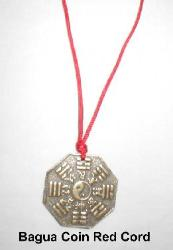 Bagua Coin Charm on Red Cord, protection from negative energy necklace, protection jewelry feng shui, chinese protection jewelry, chinese red string necklace, chinese protection necklace, bagua coin amulet protection from negative people, protective talisman, feng shui protective talisman, protect from hex, feng shui protect from hex, Bagua Coin Necklace, Feng Shui Protection Necklace, Bagua Protection Jewelry