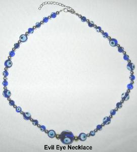 Evil Eye Necklace, evil eye blue white, evil eye necklace glass, blue white evil eye necklace, necklace protection evil eye Feng Shui, evil eye jewelry, evil eye protection, evil eye pendant, evil eye beads, fertility evil eye necklace, protect pregnancy necklace, necklace protect pregnant woman, protective talisman, feng shui protective talisman, protect from hex, feng shui protect from hex, Evil Eye Protection Jewelry, Feng Shui Protection Jewelry